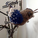 Knitted Bird Decoration