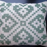 Crossed Stitched Pillow