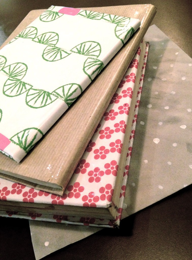 How To Make A Book Cover With Gift Wrap : Protective book cover friendly nettle