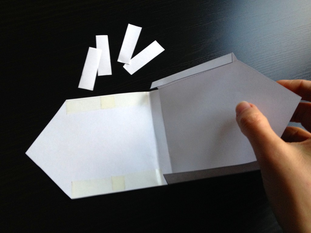 making paper house envelope