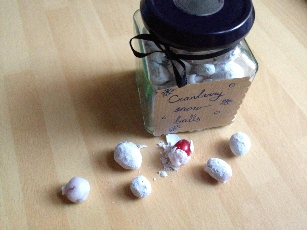 cranberry snowballs as a gift