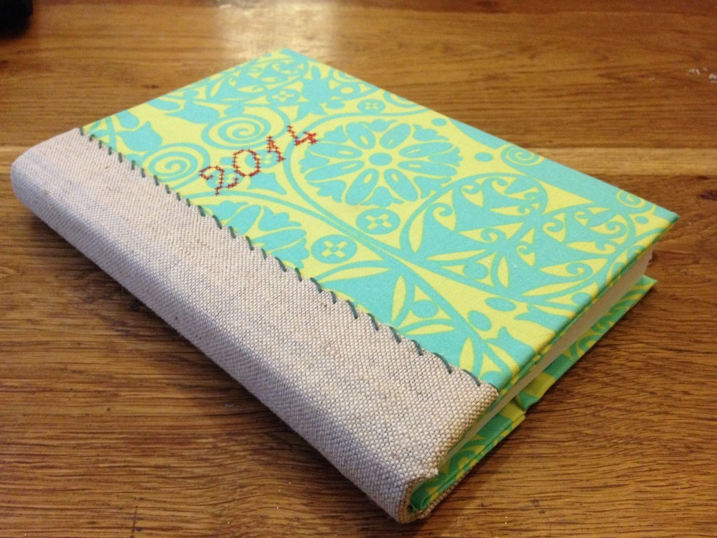 fabric covered diary DIY