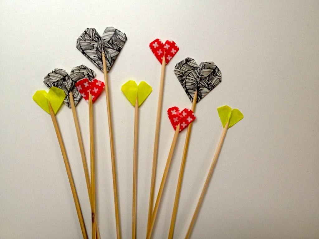 Heart cake toppers DIY... using washi tape!