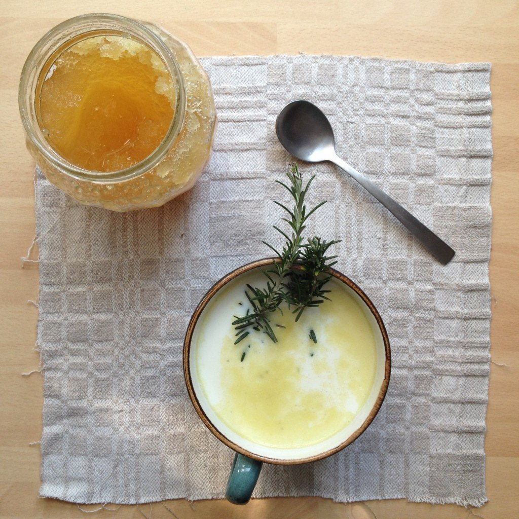 rosemary milk for colds recipie
