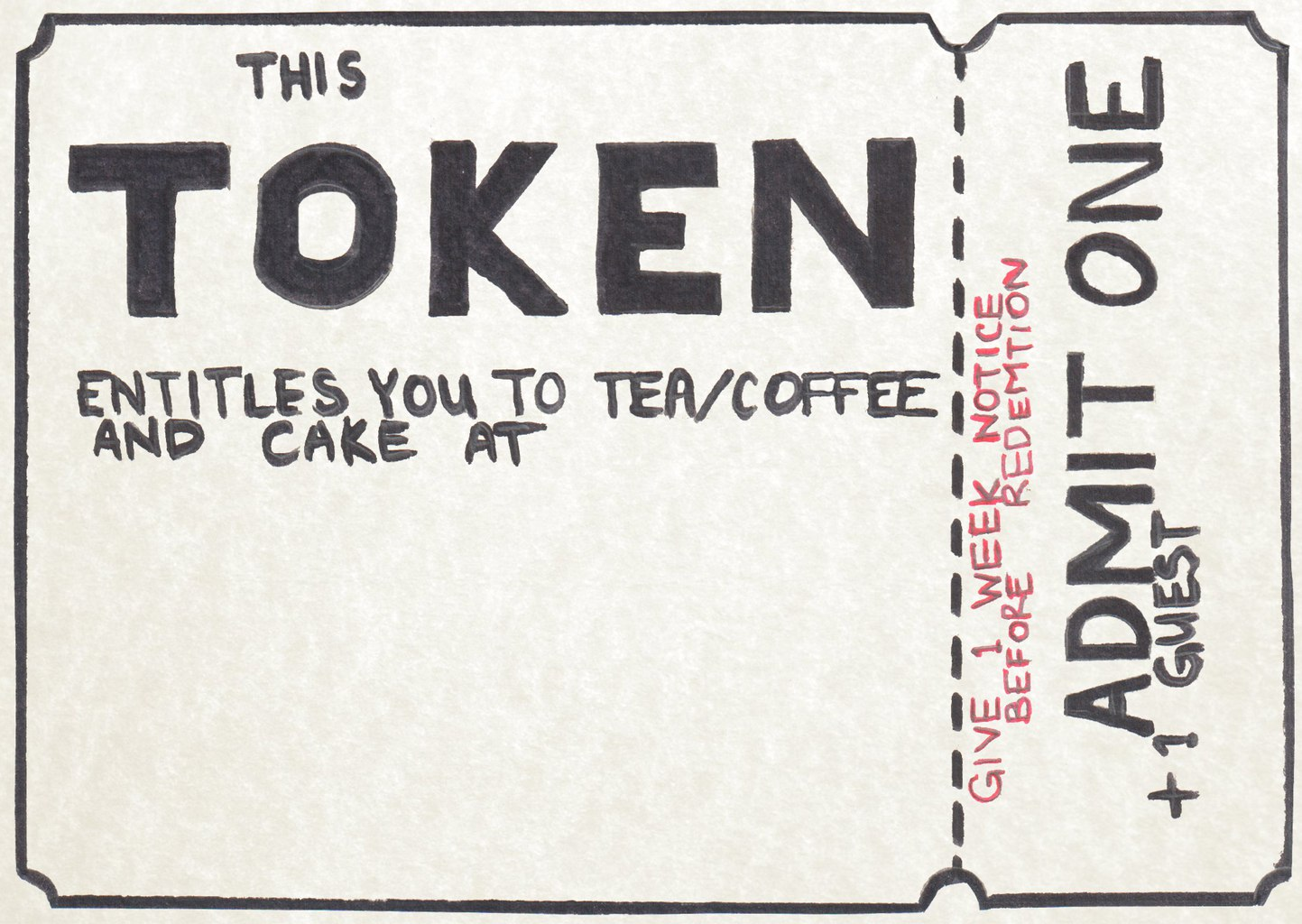 image relating to Printable Tokens identified as Imaginative presents: selfmade token - Helpful Nettle