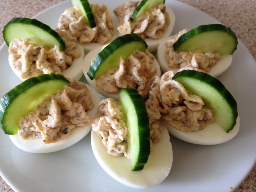 devilled eggs with sprats