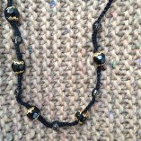 Simple Tatted Bead Necklace
