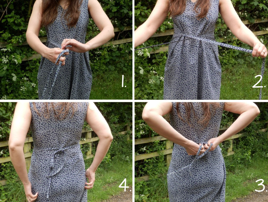 how to tie the dress