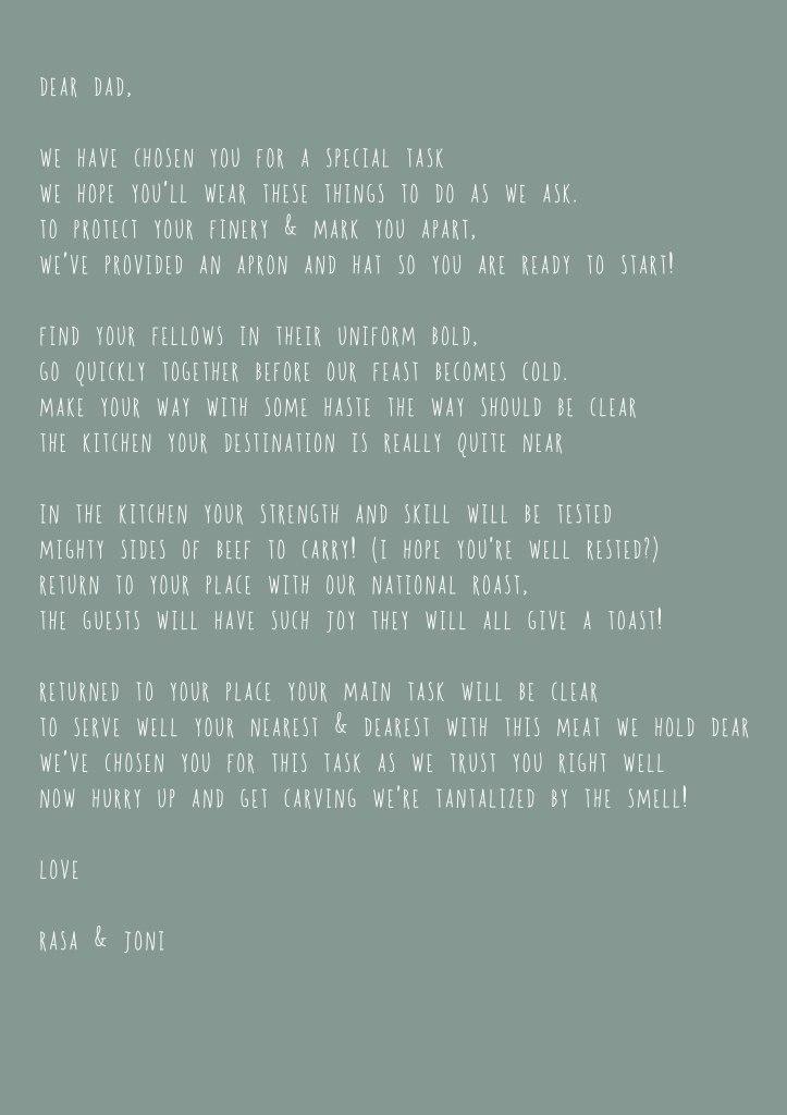 Carver letter