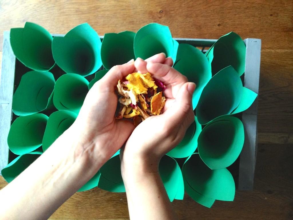 Fill the cones with confetti