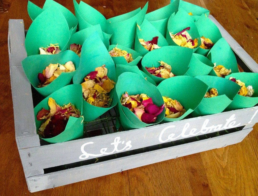 Let's celebrate confetti cones crate, DIY steps