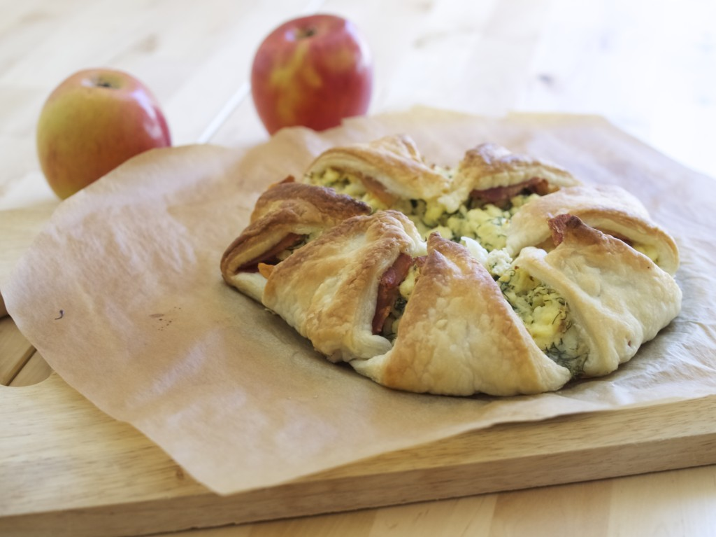 wrapped breakfast: bacon egg & cheese in pastry