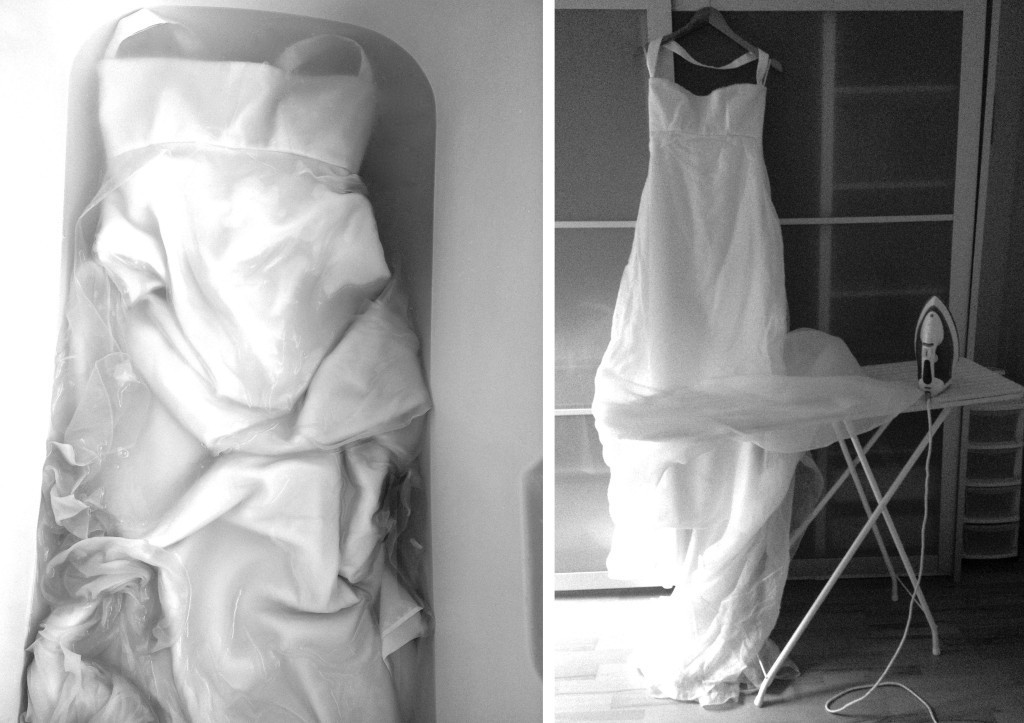 Washing and ironing my wedding dress