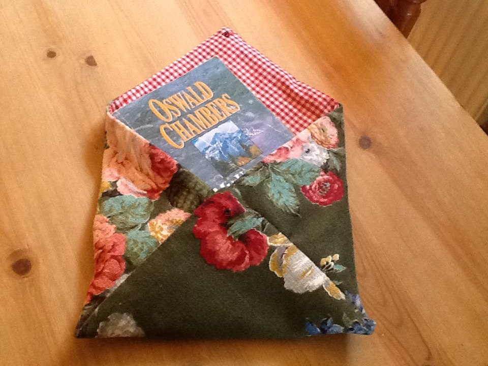 Christine's handmade envelope book pouch