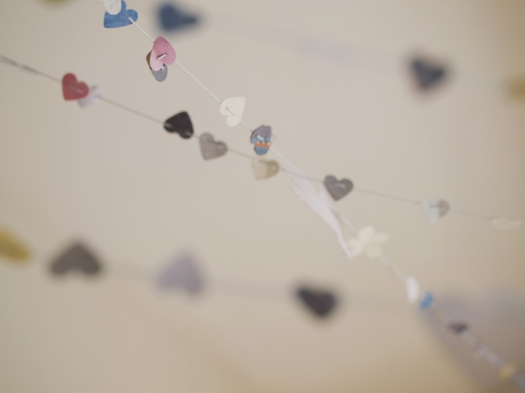 Making a garland out of greeting cards