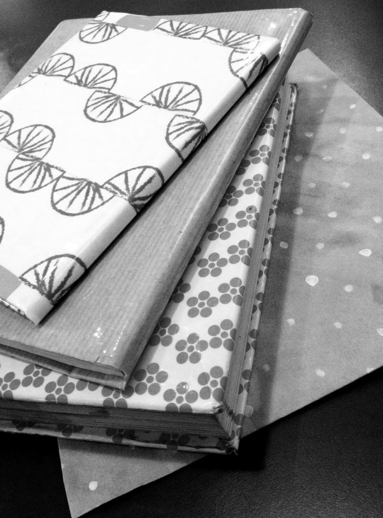 protective book cover DIY