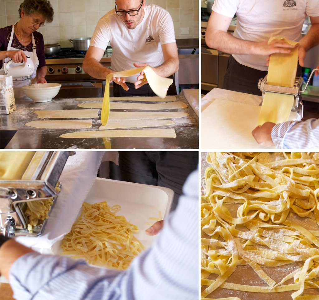 Making pasta in Italy