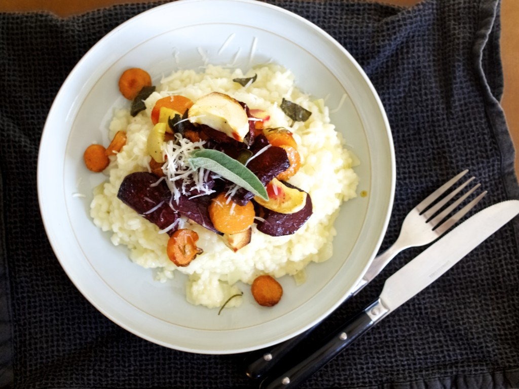 Autumn vegetable risotto recipe