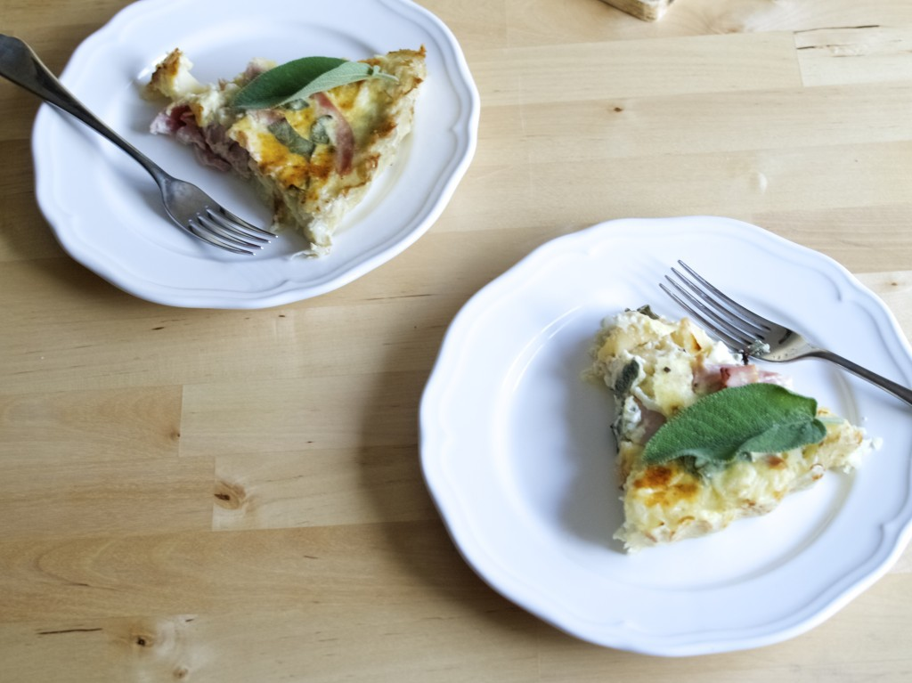 Pinterest challenge: apple and cheddar quiche with hash ...