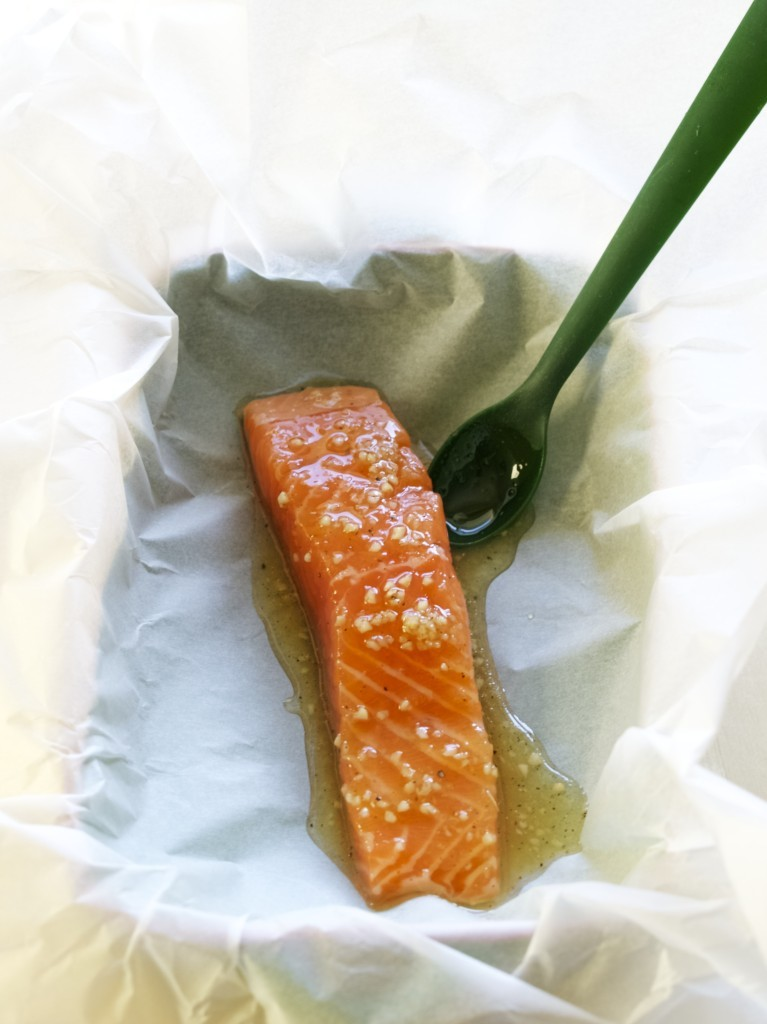 honey salmon cooked in the pouch