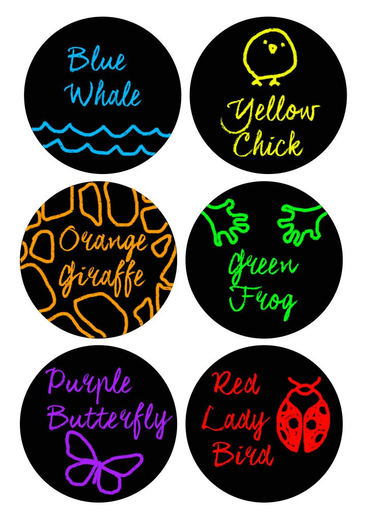 Playdough labels