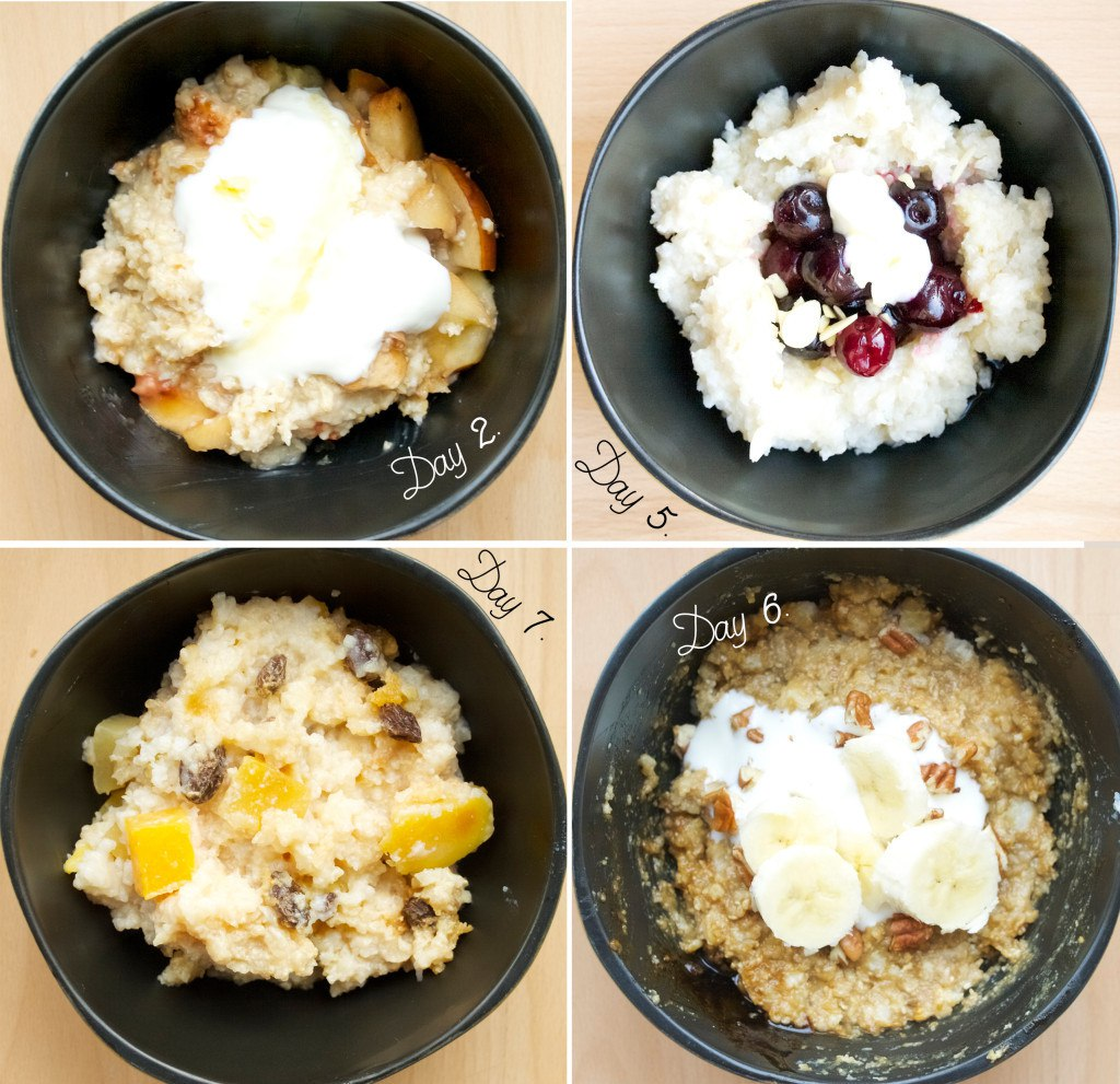 12 mornings of overnight porridge