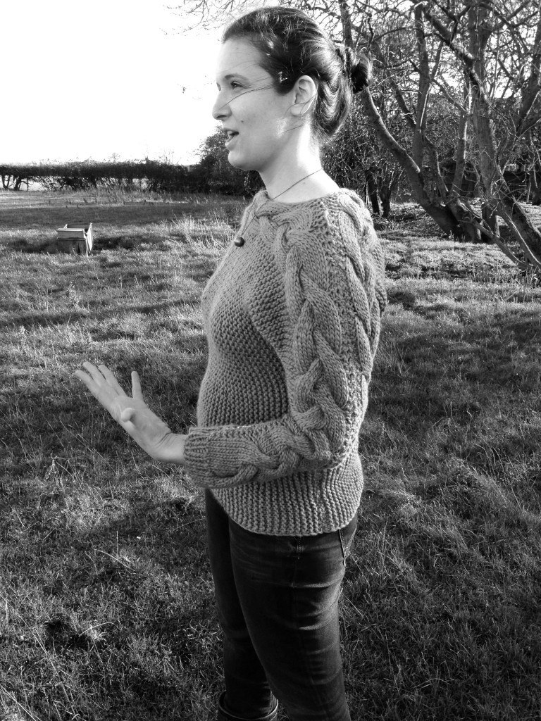 My first ever hand knitted sweater: so pleased!