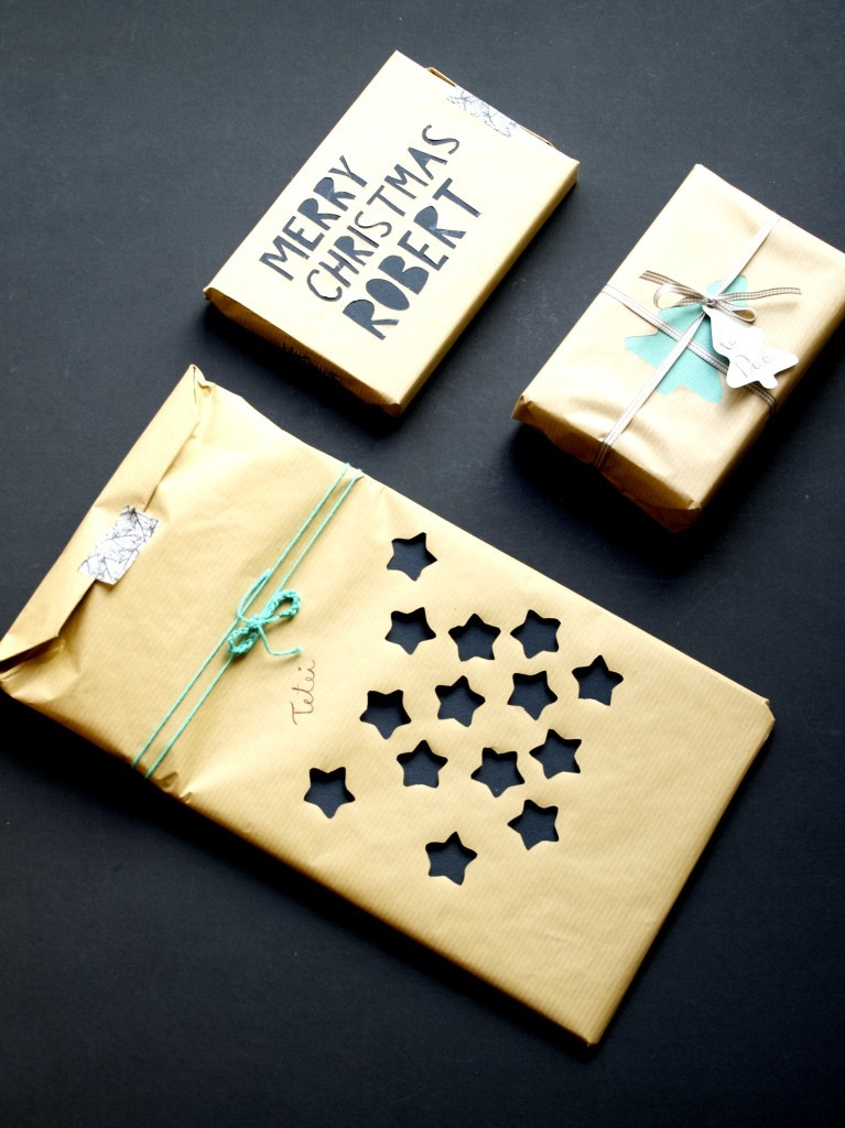 Cut-out paper layered gift packaging idea