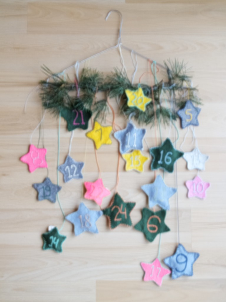 Star advent calendar DIY