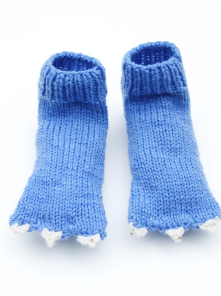 Monster sock knitting pattern