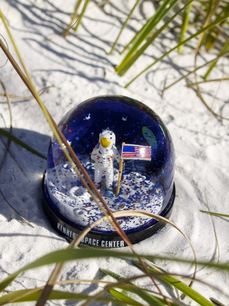Man on the moon snow globe from Kennedy Space Centre