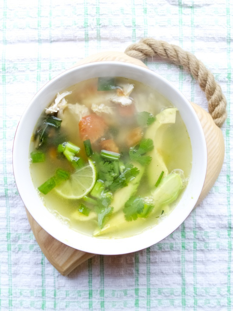 Pinterest challenge: chicken avocado soup - Friendly Nettle