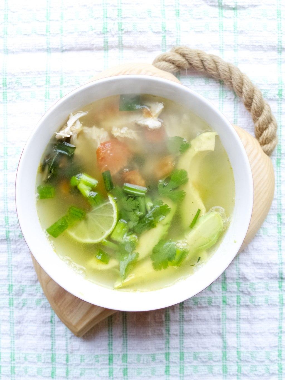 Pinterest challenge: chicken avocado soup - Friendly Nettle