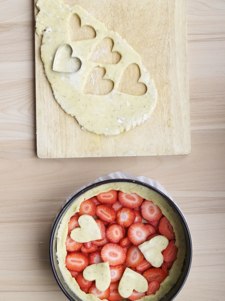 Valentine's day strawberry tart recipe