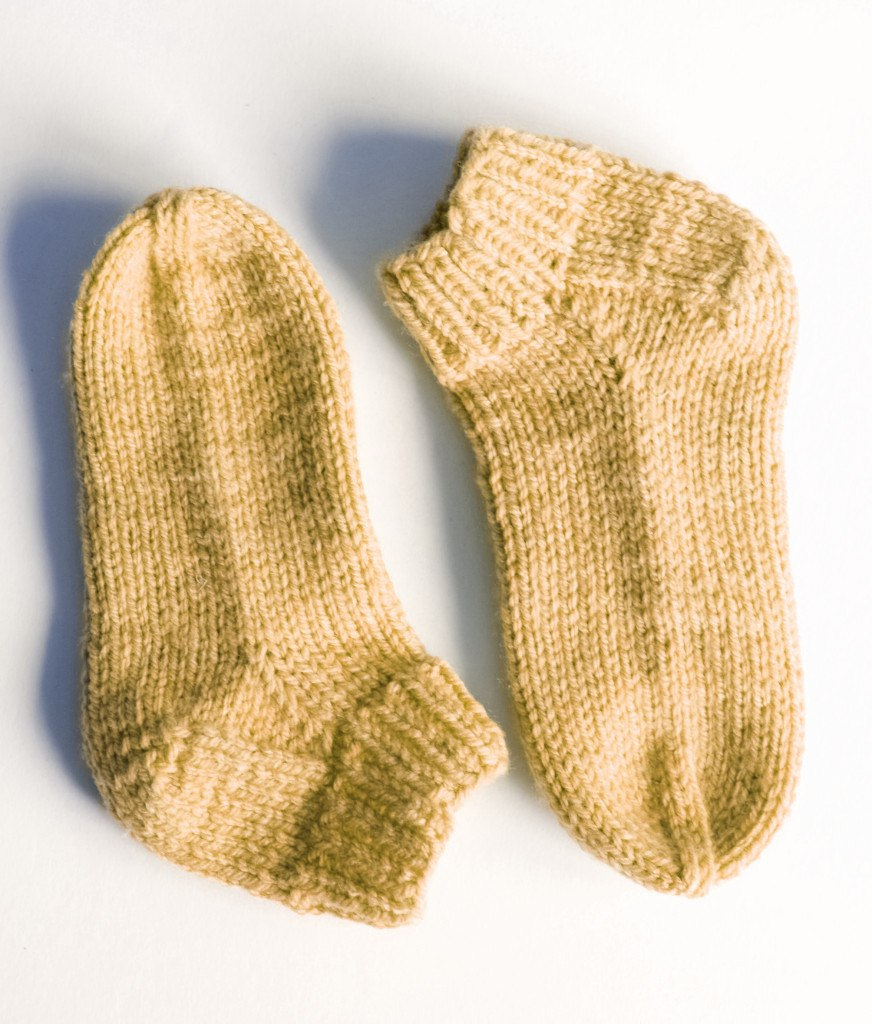 basic sock knitting