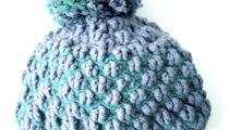 Crochet Hat With Ribbing