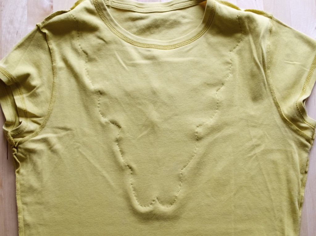 top alteration using hand stitching techniques