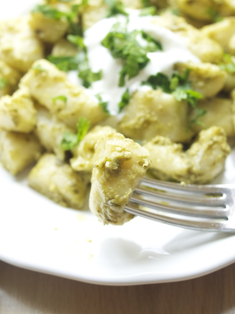 Varškėčiai with pesto (Lithuanian curd cheese dumplings with the twist)
