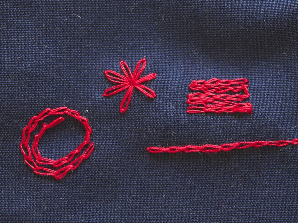 Chain stitch variations