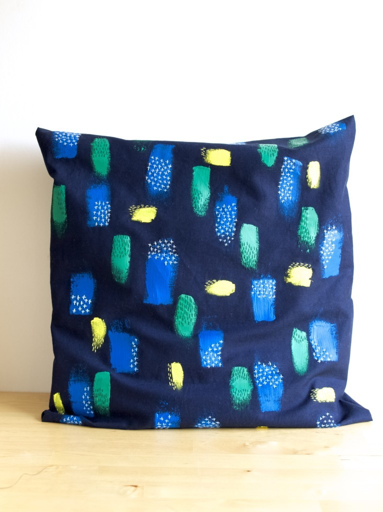 Easy removable cushion cover DIY