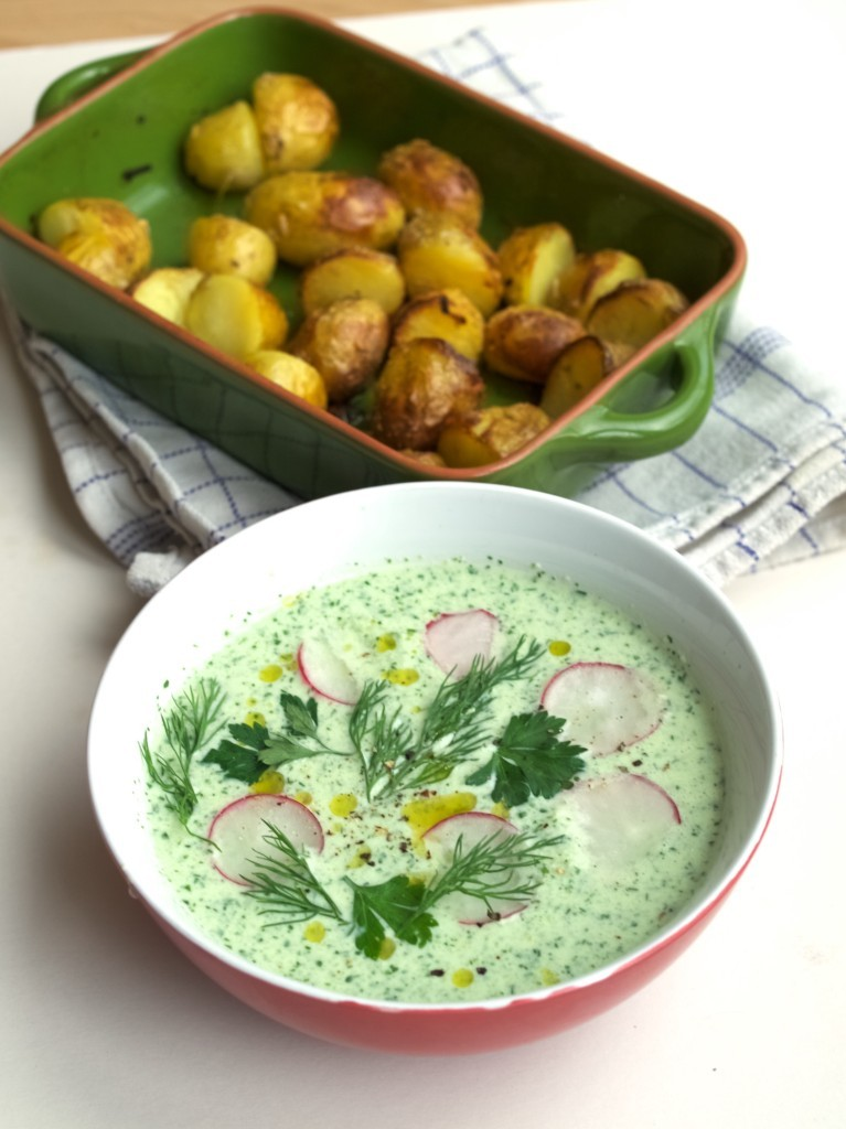 Chilled cucumber soup recipe