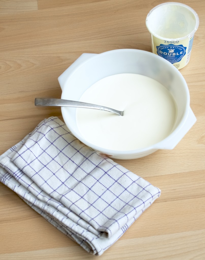 Making clotted cream from scratch
