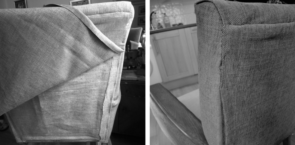 Upholstering the back of the chair