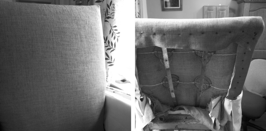 Upholstering the front back of the chair