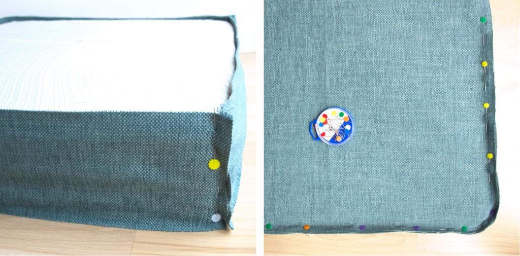 pattern cutting for custom box cushion