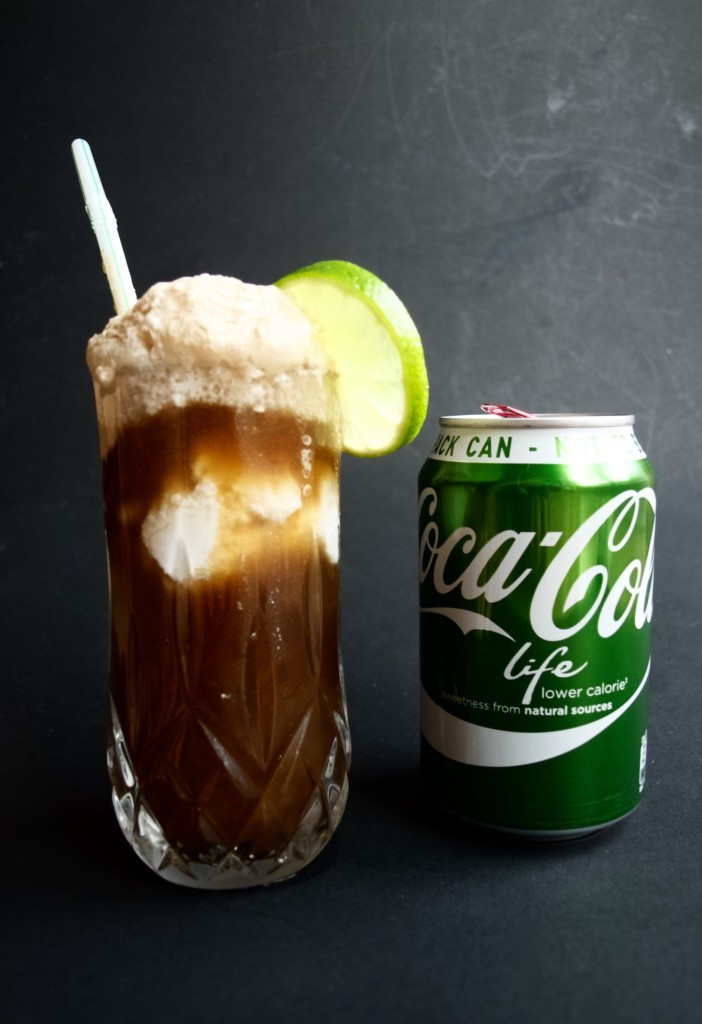 A healthier coke float