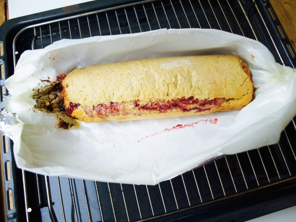 butternut squash & jam roly poly recipe