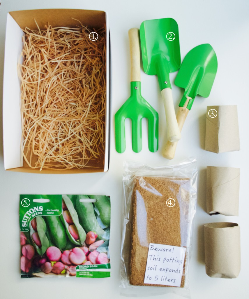 Make your own kids gardening kit