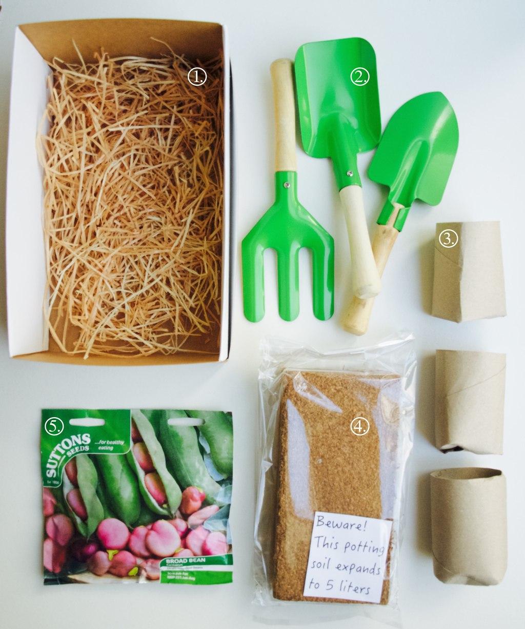 Make your own kids gardening kit friendly nettle for Gardening kit for toddlers