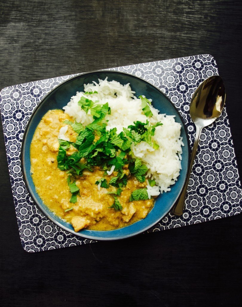 Chicken peanut curry